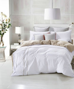 White Full Cotton Quilting Bedding Set pictures & photos