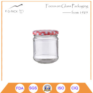 Round Shape Glass Jar with Printing Lid pictures & photos