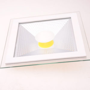 Square Aliminum with Glass 5W/12W/18W COB LED Panel Light pictures & photos