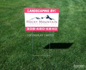 Real Estate Yard Banner, Custom Wire Rack Printed Yard Signspolitical Yard Signs pictures & photos
