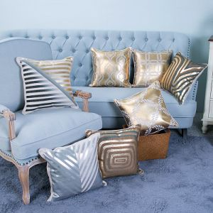 Foil/Gold&Silver Printed Decorative Cushion/Pillow (MX-55) pictures & photos