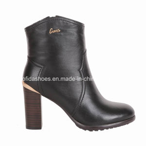 OEM Trendy High Heels Women Boots with Fashion Leather pictures & photos