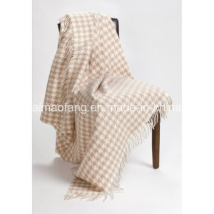 Woolen Fringed Virgin Wool Tarvel Throw (NMQ-WT045) pictures & photos