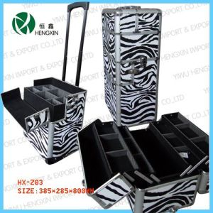 Zebra Makeup Trolley Cosmetic Beauty Cases (HX-L008) pictures & photos