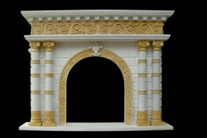 Marble Column Fireplace (FRP368) pictures & photos