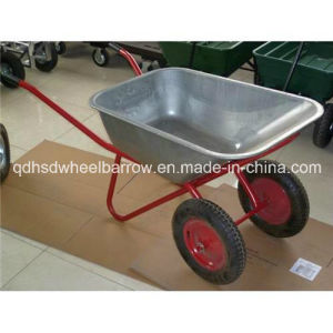 Double Wheel Construction Wheelbarrow Wb6404W