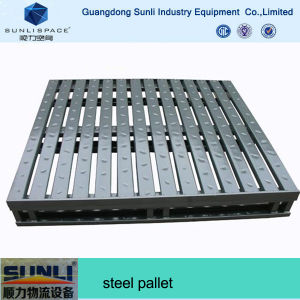 Euro Size Galvanized Reinforced Steel Pallet for Sale pictures & photos