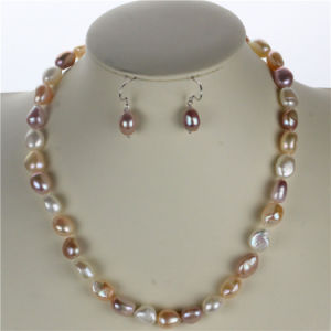 Snh 10mm AAA Mixed Color Natural Real Pearl Jewelry Set pictures & photos