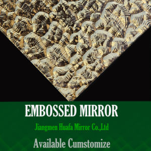 Embossed Mirror Salon Hotel Villa Restaurant Modern Mirror Glass Tile Golden Hammered Glass Mirror Tile