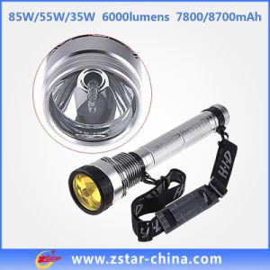 7, 800/8, 700mAh 85W Black LED Torch Rechargeable Flashlight (ZSHT0001)