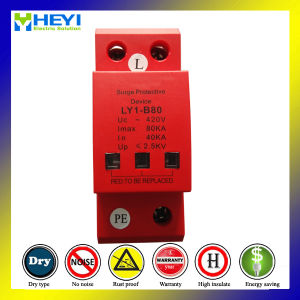 420V 80ka 1pole Lightning Protection System Surge Protector pictures & photos