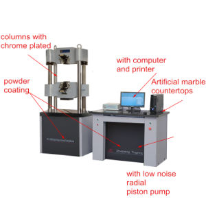 Waw Microcomputer Controlled Electro-Hydraulic Servo Material Universal Testing Machine pictures & photos