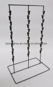 "1 New (Black) 3 Round Strip 6"" Apart 39 Chip Counter Potato Chip Display Rack pictures & photos"