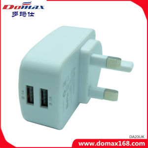 Mobile Phone Micro 2 USB Emergency Fast Travel Wall Charger pictures & photos