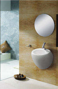 Square Wall-Hung Ceramic Sink for Washroom pictures & photos