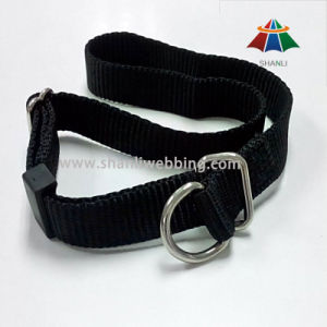 Black Nylon Webbing Dog Collar (with D-ring buckle) pictures & photos