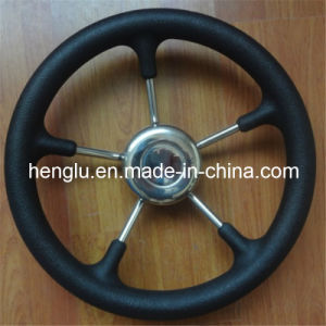 Hot 5 Spokes PU Yacht and Boat Steering Wheel pictures & photos