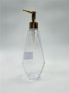 Shaped Plastic PETG Bottle with Lotion Pump Jj-37