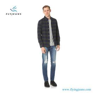 2017 Latest Fashion Blue Stretch Denim Ripped Men Jeans (Pants E. P. 4129) pictures & photos