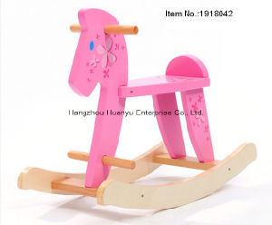 High Quality Wooden Baby Rocking Horse-Wooden Rocker with Flower pictures & photos
