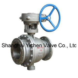 The Turbine Operation Fixed Ball Flanged Ball Valve pictures & photos