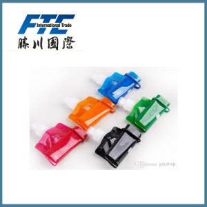 Wholesale Design Logo Promotion Plastic Collapsible Water Bottles pictures & photos