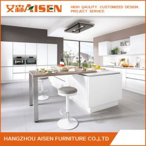 Modern Handless Design White High Glossy Lacquer Kitchen Cabinet pictures & photos