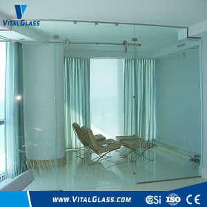 Clear Tempered/Toughened Plate Glass for Sliding Door/Entrance pictures & photos
