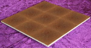 Tree Ring Pattern Oak Veneer Art Wooden Floor (L001-1)