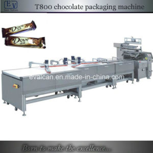Fully Automatic Chocolate Bar Wrapping Machine with Feeding Conveyor pictures & photos