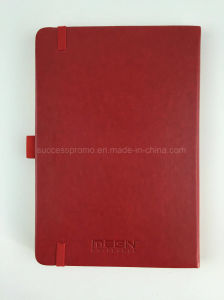 High Quality PU Hardcover Moleskine Notebook with Vodafone Logo pictures & photos