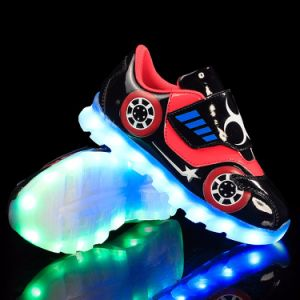 Luminous Sneakers Light up Simulation Kids Children Boys Flashing LED Light Shoes with LED pictures & photos