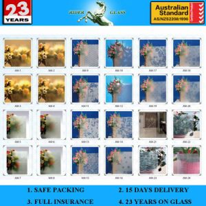 3-6mm Frosted Pattern Glass with AS/NZS 2208 pictures & photos