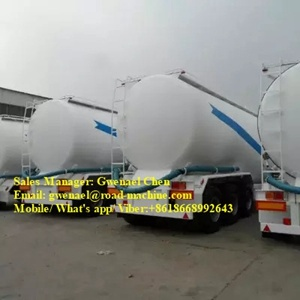 Dry Cement Powder Truck Trailer with Air Compressor 3 Axles Bulk Feed Silo Semi Trailer pictures & photos