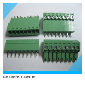 8pin Way Pitch 3.5mm Screw Terminal Block Connector Green Color Pluggable Type with Straight-Pin pictures & photos
