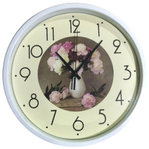 12 Inch Home Decoration Plastic Home Goods Wall Clock, Round Plastic Wall Clock (LZ010) pictures & photos
