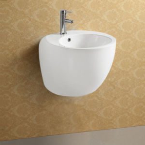 Bathroom Sanitary Ware Wall Mounted Ceramic Sink