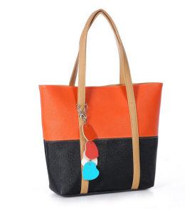 Elegant Female Big Bags Women′s PU Leather Handbag pictures & photos