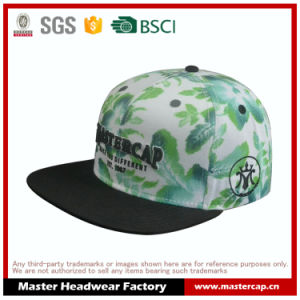 Sublimation Printing 3D Embroidery Flat Brim Hat Snapback