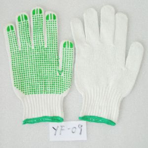 Industrial Nylon Knitted PVC DOT Working Labor Glove (JMC-409M) pictures & photos