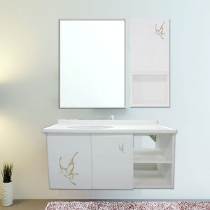 Oppein Modern Golden Butterfly Bathroom Vanity for Young People (OP-P1178-100) pictures & photos