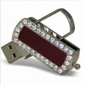 Leather USB Jewelry Swivel USB Flash Drives with High Quality pictures & photos