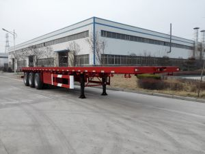 2017 New Style 2 Axle/3 Axle Container Flatbed Semitrailer pictures & photos