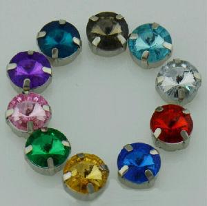 Round Claw Crystal Garment Accessories (CC8024)