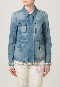 U′sake Fashion Women Plain Denim Jean Jackets S141330