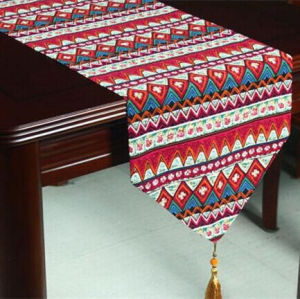 Faux Linen Table Runner Decorative Table Flag (ETR-02) pictures & photos