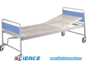 Cheap Manual Hospital Steel Bed with One Function pictures & photos