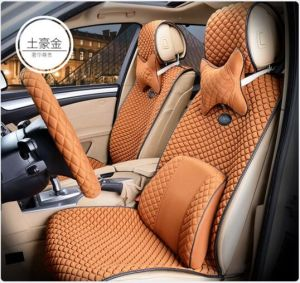 Colorful Car Seat Cover Flat Shapeviscose Fabric-Beige pictures & photos