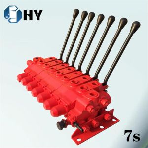 7 Spool Hydraulic Flow Control Valve Manual for Crane Truck