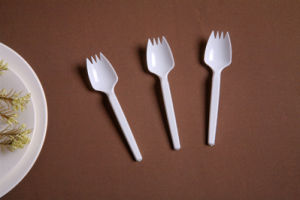 Transparent Virgin PS Plastic Spork pictures & photos